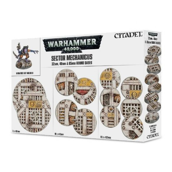 Sector Mechanicus: Industrial Bases / 32mm, 40mm, 65mm Round Bases