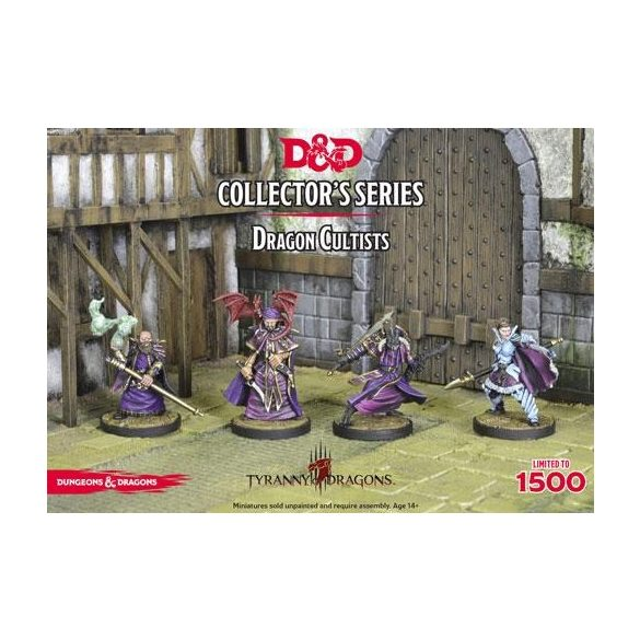 """""""Horde of the Dragon Queen"""" Dragon Cultists (4 figs)"""